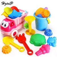 HziriP 20Pcs Sets Kids Sand Playing Tool Beach Toys Set Summer Plastic Outdoor Cute Car Tools