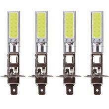 Nouveauté 4 pièces H1 COB LED voiture phare conduite lampe ampoule blanc 6000K Automobile Super lumineux Auto voiture éclairage lampe