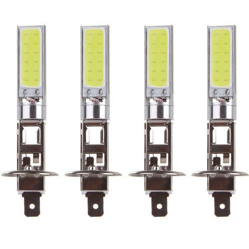 Nova Chegada 4 pcs H1 COB LED Farol Do Carro Automóvel de Condução Lâmpada de Luz Branca 6000 k Super Brilhante Auto lâmpada de Iluminação do carro