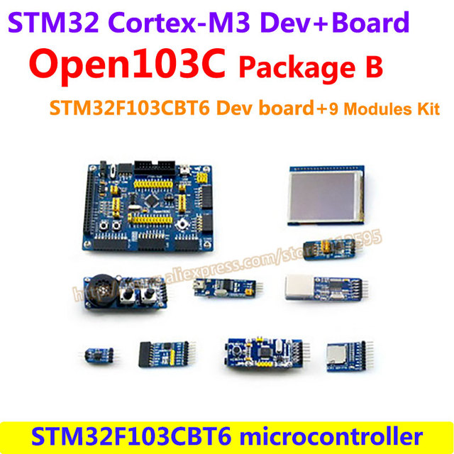 STM32 Борту STM32F103CBT6 STM32F103 STM32 ARM Cortex-M3 Развития Борту Комплект (72 МГц) + 9 Наборы Аксессуаров = Open103C пакет B