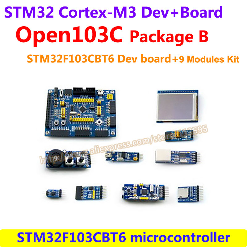 STM32 Board STM32F103CBT6 STM32F103 ARM Cortex-M3 STM32 Development Board Kit(72MHz)+ 9 Accessory Kits =Open103C Package B