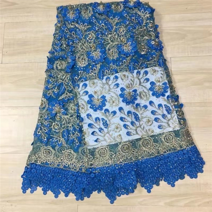 Latest New Design African Lace Fabric French Stones beads Net Lace Fabric High Quality African Tulle