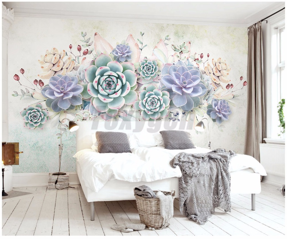 Custom Photo Art Wallpaper 3D FLower Designs TV Background/living Room/  Hotel Decoration/shopping Center 3d Mural Wall Paper In Wallpapers From  Home ... Part 43