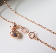 Pure 18K Rose Gold Necklace Special 1.3mm Cable Link Chain Necklace 19.7inch Length Hallmark: Au750