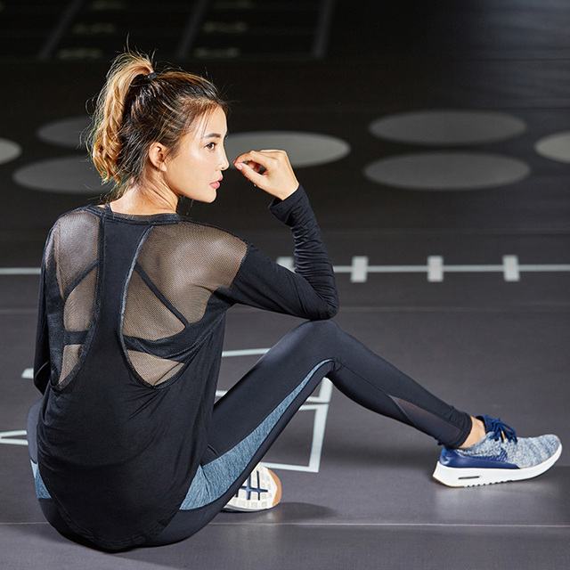 Womeb's Mesh Detail Yoga Sweater 2 colors  S-L