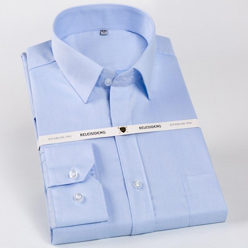 ผู้ชาย 100% Cotton เสื้อแขนยาว Non Iron มาตรฐาน-Fit Spread อย่างเป็นทางการเสื้อคู่มือ
