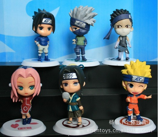 2013 NEW,Japan Anime naruto toy, PVC Figure, the toys for boy/boys/girl/girls/baby/kids/children's, 6pieces/set