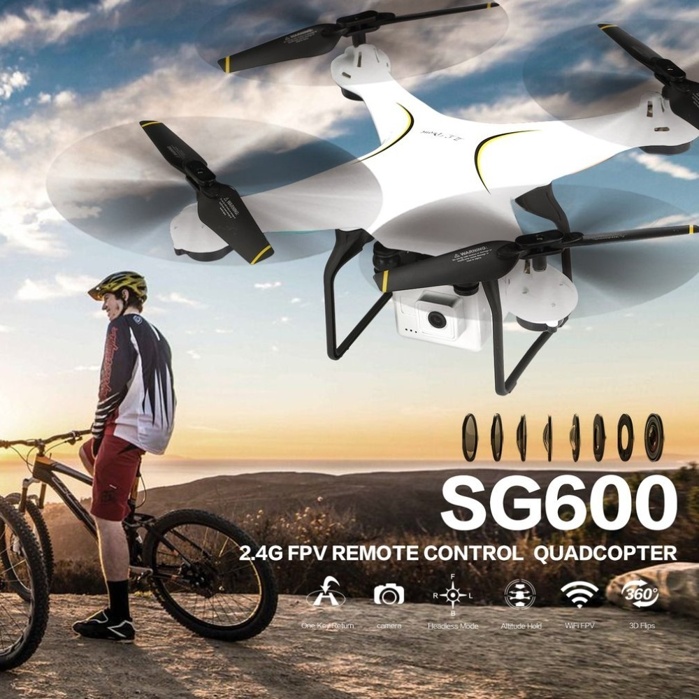 Selfie Quadcopter with 2MP Wifi Wide Angle Camera RC Drone 2.4G FPV Altitude Hold Auto Ret