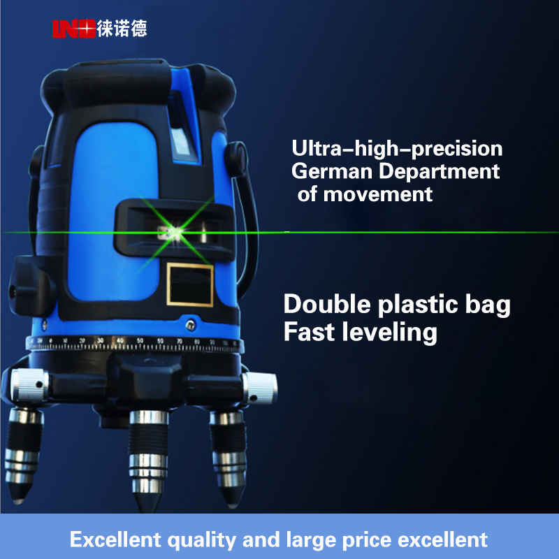 New LND Green Level Laser Infrared 2/3/5 line laser level Lithium level drop line instrument kapro laser level laser angle meter investment line instrument 90 degree laser vertical scribe 20 meters