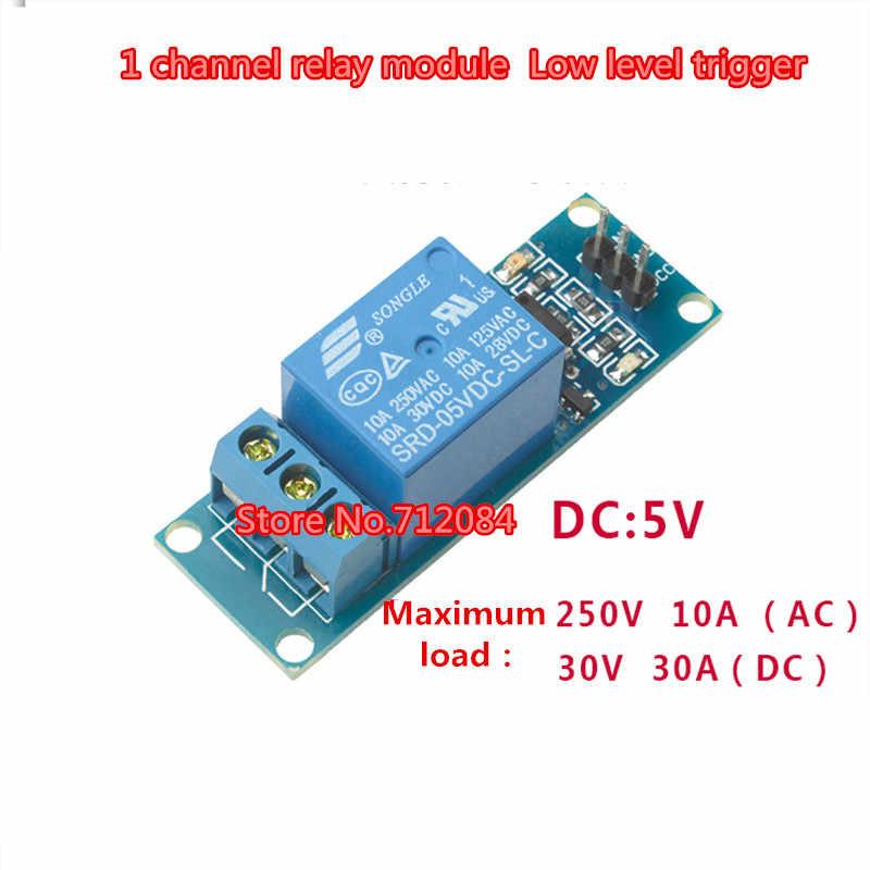 5 V 1 module de relais à un canal avec déclencheur de bas niveau d'isolement d'optocoupleur, commutateur de relais avec le voyant
