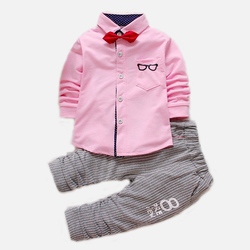 2016 Spring Autumn style Glasses 3 colors Baby boy girls Clothes Suit Long Sleeve T-shirt / Blouse + Pants 2 piece Clothing Set free shipping dh 9053 parts gear blade clip balance bar for dh9053 rc helicopters spare parts