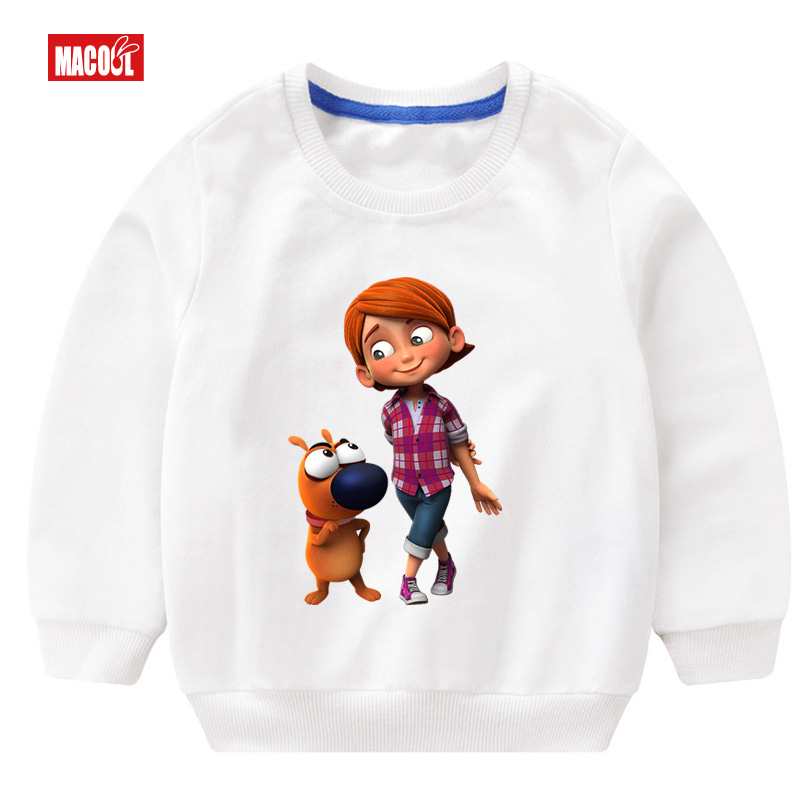 Spring Casual Girls Colorful Flowers Print Long Sleeve Sweatshirt Loose Cotton Cartoon printing Tracksuits Fashion Clothes 3T 8T in Hoodies Sweatshirts from Mother Kids