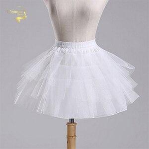 أعلى جودة الأسهم الأبيض أسود الباليه تنورات ثوب نسائي تول كشكش قصيرة قماش قطني الزفاف سيدة الفتيات الطفل تحتية jupon