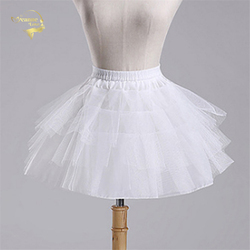 adb82226da Top Quality Stock White Black Ballet Petticoat Tulle Ruffle Short Crinoline Bridal  Petticoats Lady Girls Child