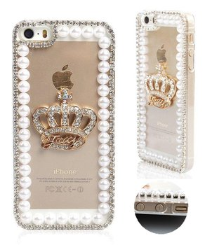 Bling Crystal Golden Keizerskroon Strass Parel Diamanten Sparkle Case Voor Iphone 11 Pro Max X Xs Max Xr 6 6S Plus 7 8 Plus