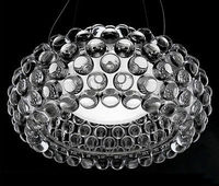 Современные круглый светодиодный лампы подвесные светильники Спальня акрил Кухня дом 50 см Caboche шарик свет включают лампы подвесные светиль