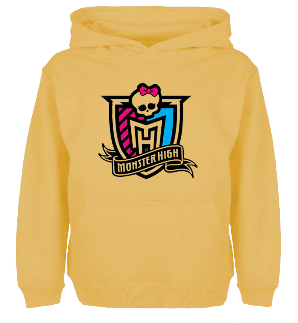 Monster High Group logo skull head tied with a pink bow Design Newest Hoodie Mens Womens Winter Sweatshirt Tops