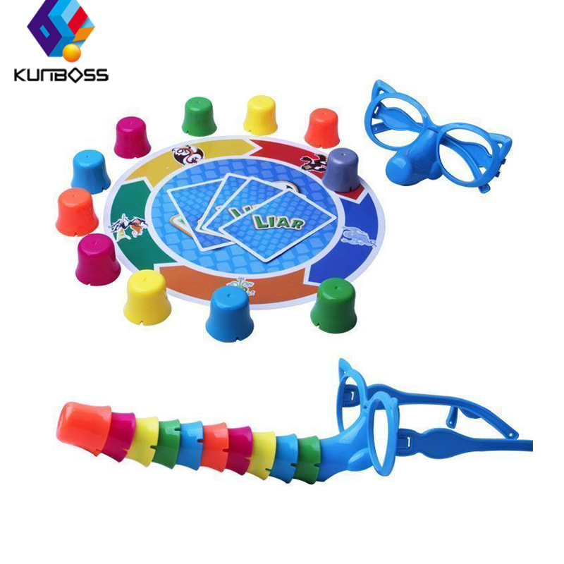 Liar Fibber Game Funny Hilarious Noses & Glasses Stretch The Truth And Your Nose May Grow Kids Children Great Family Fun Toys
