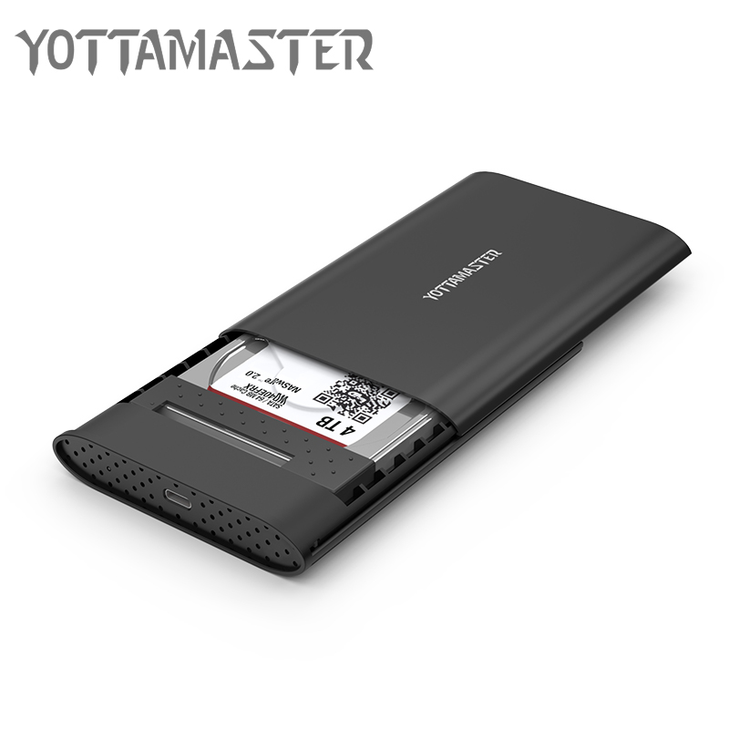 Yottamaster 2.5 Inch HDD Enclosure USB3.1 Type-C To SATA3.0 Tool Free 5 Gbps HDD Case Support UASP Protocol Hard Drive Enclosure