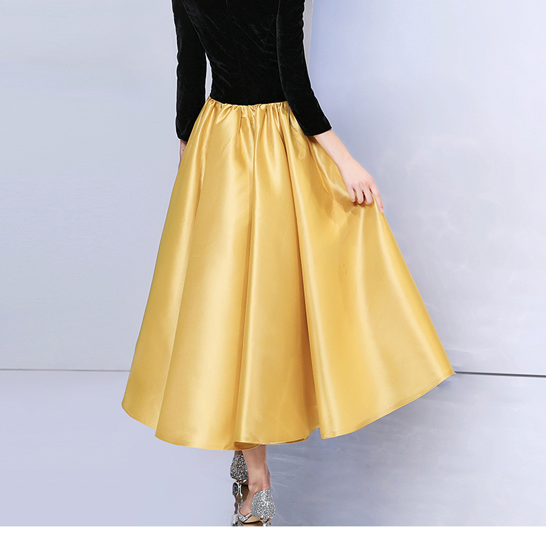 Mother Daughter Dresses Wedding Ball Gown Off Shoulder Golden Color Tutu Skirt Mommy and Me Clothes Family Look Matching Outfits - 6