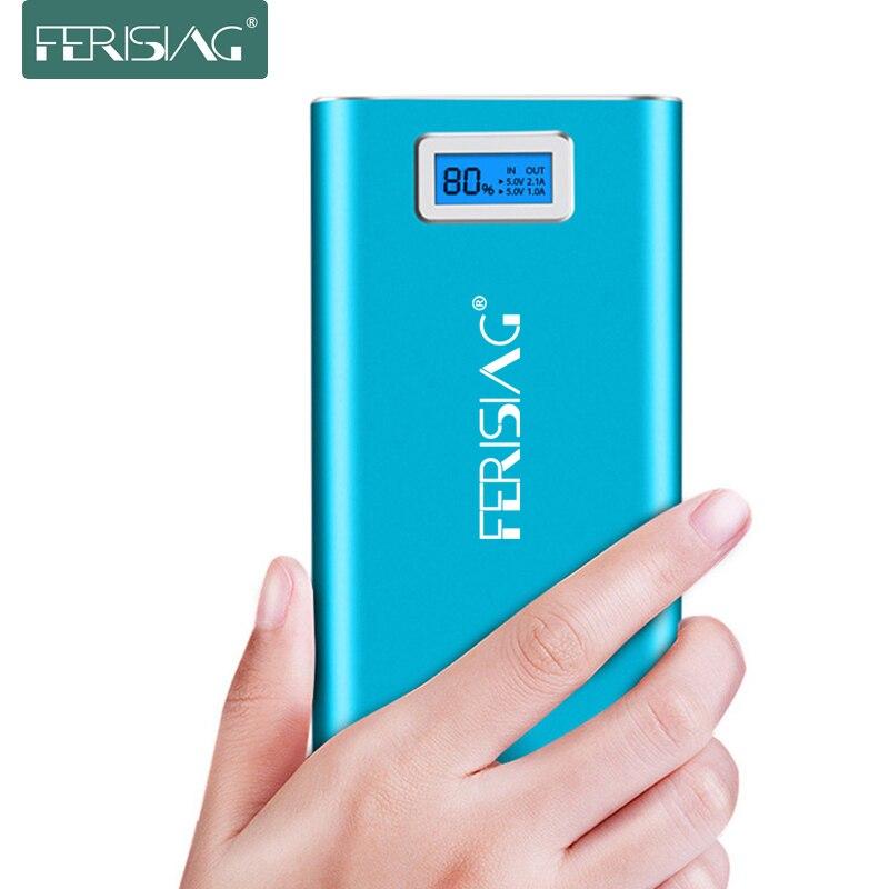 Цена за Ferising 18650 Power Bank 20800 мАч СВЕТОДИОД Внешняя Батарея Портативный Быстрое Зарядное Устройство Pover планшетный Powerbank для iphone 6/samsung/xiaomi