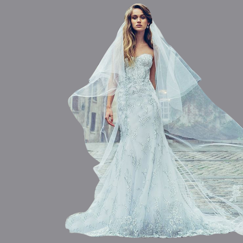 Popular Blue Mermaid Wedding Dresses Lace-Buy Cheap Blue Mermaid ...
