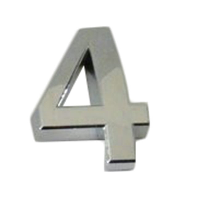Silver Color Self-Adhesive Digit Sign