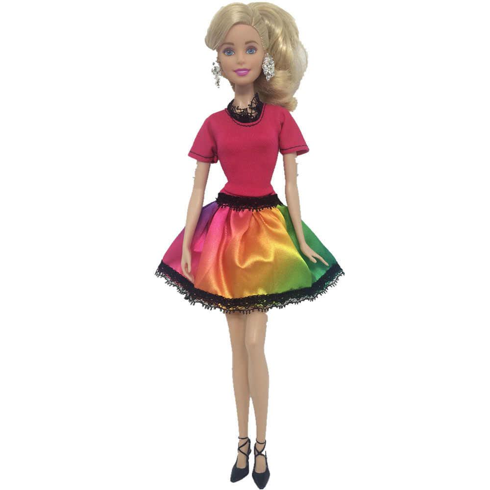 NK 2018 новейшая одна кукла ручной работы одежда для отдыха платье Модная юбка вечерние платья для куклы Барби для девочки Лучший подарок G108