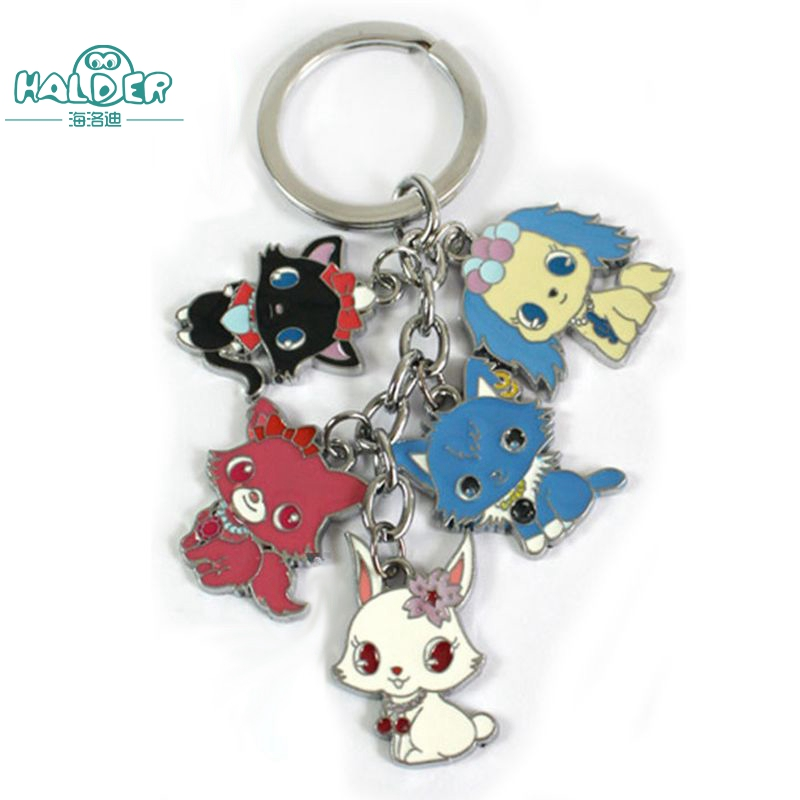 Halder TV Cartoon Jewel Pet Dogs Cats Rabbits Animals Key Chains Cosdplay Trinkets Pendants Decoration For SchoolBags Phone