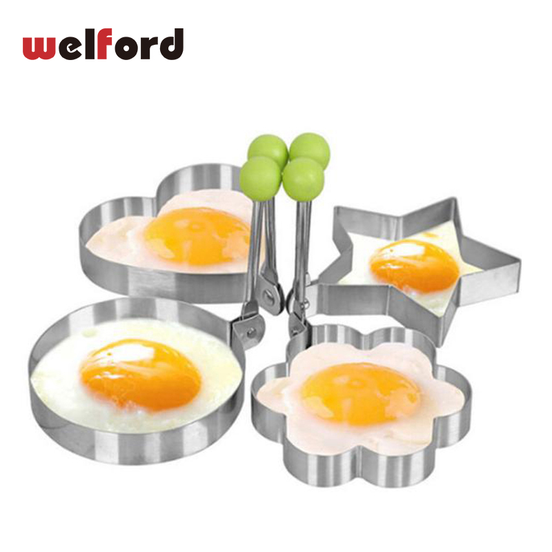 Stainless Steel Fried Egg Shaper Egg Pancake Rings Mould Heart Star Egg Mold Kitchen Cooking Tools Gadgets Kitchen Accessories Mild And Mellow Egg Tools