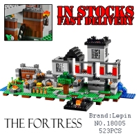 LEPIN The Fortress 4 Models 523pcs My World Minecraft Anime Figure Building Blocks Bricks Fun Toys