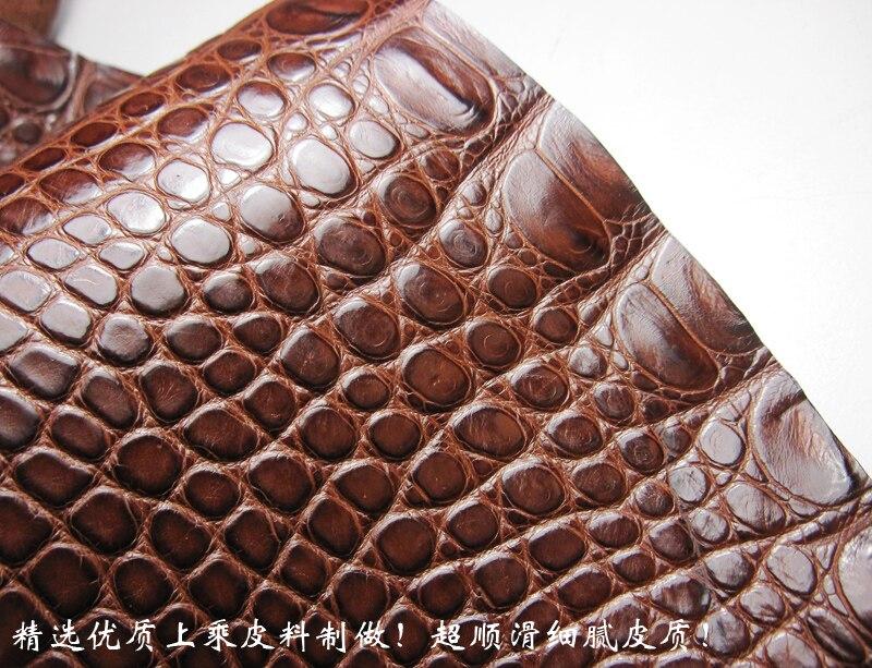 Handmade soft thin watchband strap  black brown 18mm 20mm 21mm 22mm American Crocodile skin watch band strap