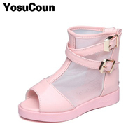 Girls Sandals High Heel Shoes For Kids Fashion Style Cute Girl Summer Children Sandals Pink Sandals