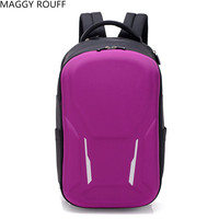 2018 New Purple Casual Backpack 15 inch Business Laptop Backpack Men's And Women's Backpack School Backpack