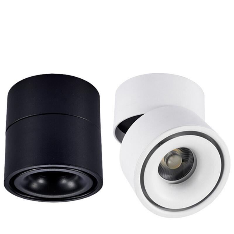 ROSTSTAR 15W COB LED Track Lighting AC85 265V Surface Mounted LED Ceiling Lamps Indoor track lamps Rail Spotlights Black White in Track Lighting from Lights Lighting