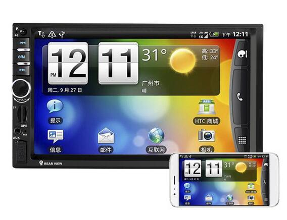 2 DIN 7060B 7 inch Car MP5 Video Player In Touch Screen Support Bluetooth  MP3 MP4 USB TF AUX FM & Remote Control & Camera 2 din car video player 7 tft touch screen bluetooth radio audio stereo mp5 player support aux fm usb sd mmc remote control