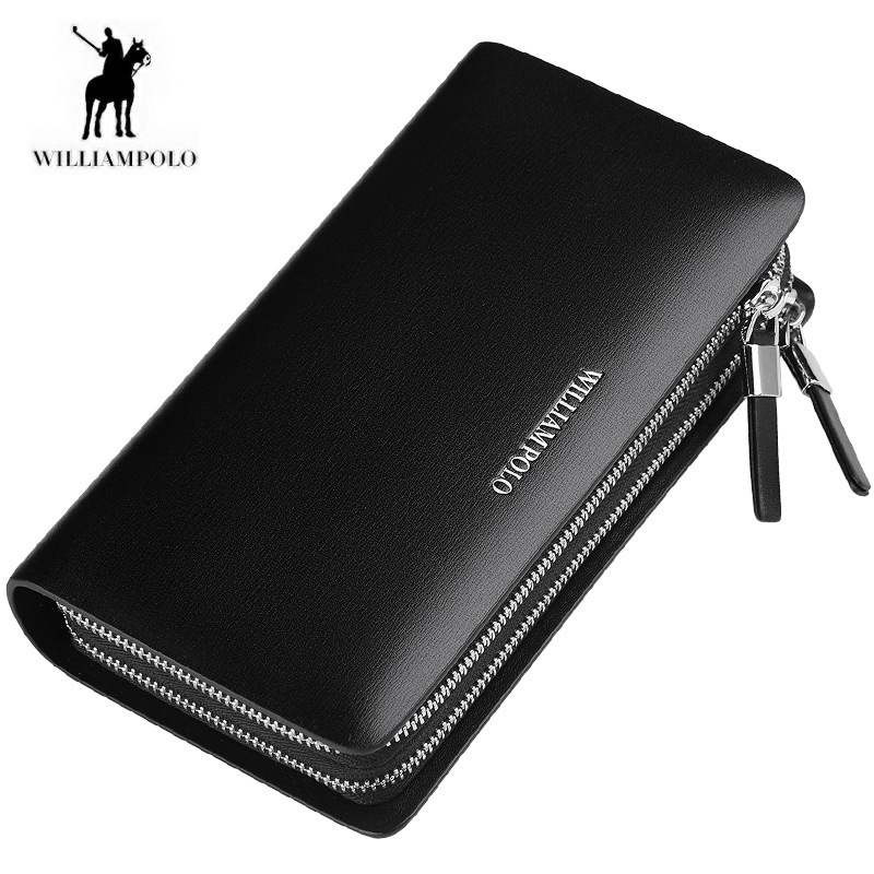 Williampolo Genuine Leather Corss Pattern Men Wallet Multi card position Cowhide Wallet 185141 free freight python skin handmade men wallet multicard genuine leather coin purse corss pattern men wallet