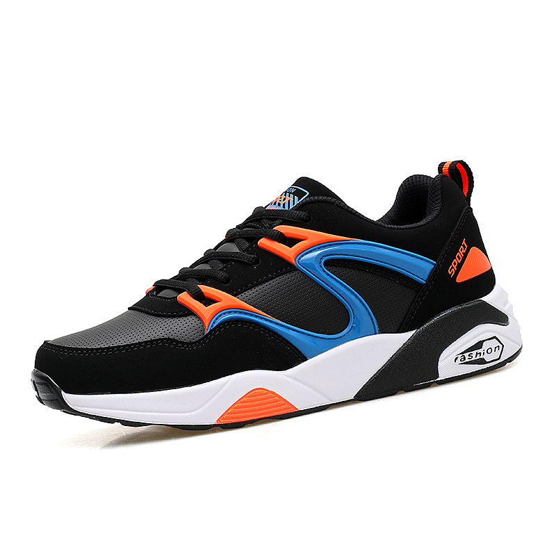 Running Shoes Man Sport Sneakers Spring/Autumn Jogging Shoes Mens Breathable Walking Sneakers Black/Blue Athletic Shoes  2017 mens running shoes breathable male outdoor walking sport shoes new man athletic sport sneakers for adults