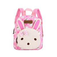 NEW Design Cute Rabbit Girls School Bags Canvas Cartoon Bear Double Shoulder Bags Kindergarten Children Backpack