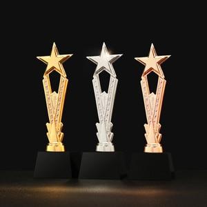 Image 1 - Бесплатная гравировка на заказ блестящая черная основа с кристаллами Золотая Звезда награды