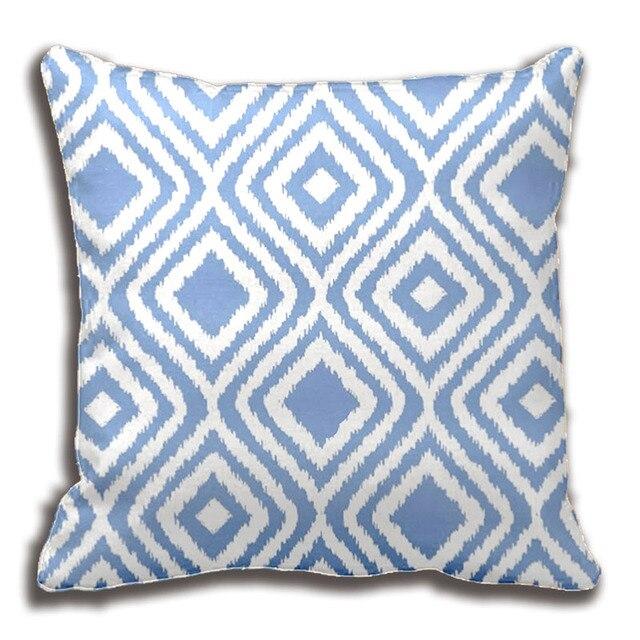 Aliexpresscom Buy Light Blue Tribal Ikat Diamond Pattern Throw