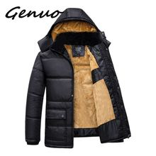 Genuo 2019 Men Winter Jackets Parkas Snow Coats Fur Hood Male Warm Overcoat Tops Waterproof Windbreak Outwear Brand Clothing nianjeep brand winter men s classic 3 in 1 jackets male 2 pieces mountaineering bomber warm coats waterproof windbreaker outwear