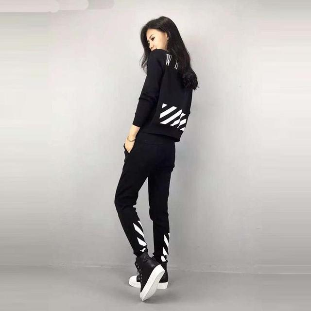 Hoodies Tracksuits Women Set Long Sleeve Tops Full Pants Slim Fit Female Leisure Suit Two Pieces Set Femme