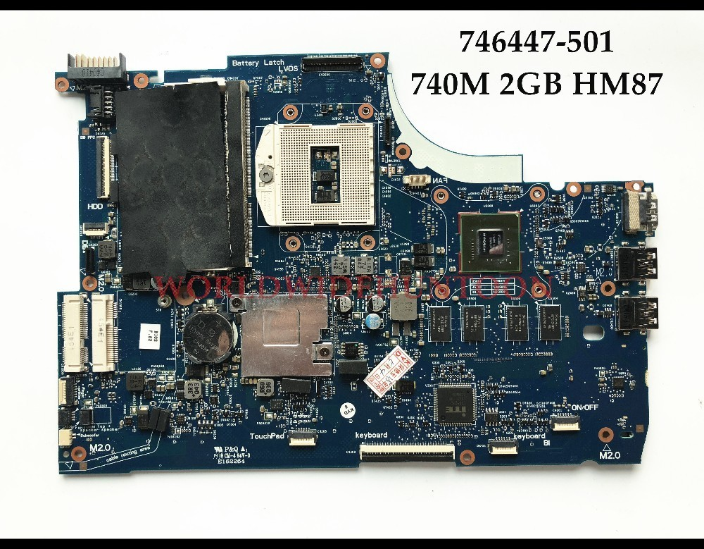 High Quality 746447-001 for HP ENVY 15-J 15T-J Series Laptop Motherboard 746447-501 rPGA947 740M/2GB HM87 100% Fully Tested top quality for hp laptop mainboard envy 15 580125 001 laptop motherboard 100% tested 60 days warranty
