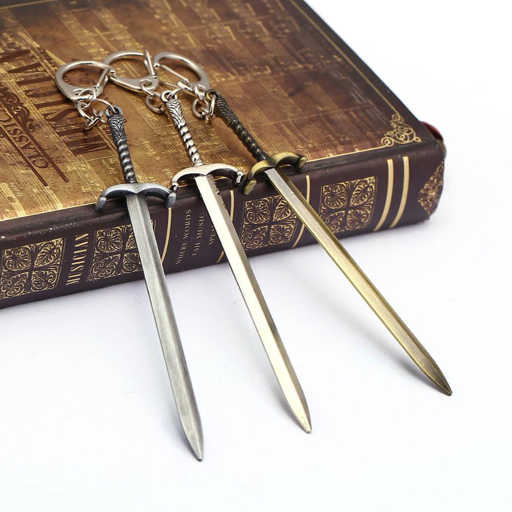 12cm Game Of Thrones Keychain Oathkeeper Ice Sword Key Ring Jon Snow Longclaw Key Chain Men Jewelry