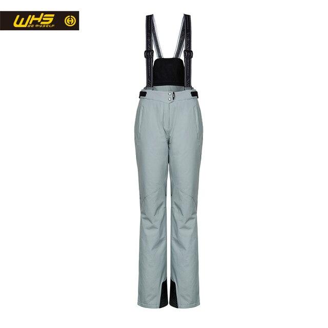 WHS Новый Для женщин лыжные штаны брендов Открытый Теплый Сноуборд брюки женские водонепроницаемые зимние брюки женские дышащие спортивные штаны