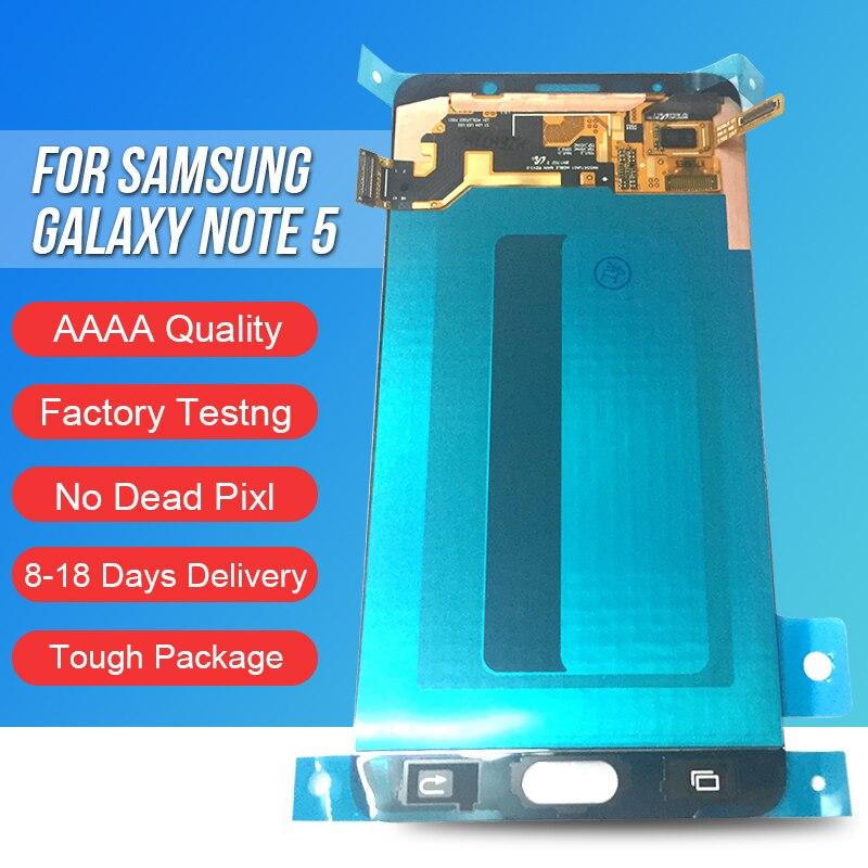 ACKOOLLA мобильных телефонов Дисплеи для samsung Galaxy Note 5 Мобильные аксессуары Запчасти дисплеев мобильных телефонов Сенсорный экран кронштейн