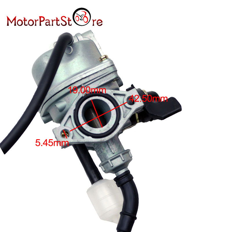 Motorcycle Carburetor Carb 50cc 70cc 90cc 110cc 125cc ATV Go kart Dirt Bike Carburetor PZ19 19mm @25
