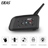 EJEAS V6 Pro Bluetooth Motorcycle Communicator Helmet Intercom 850mAh Moto Headset With Mic 1200m Interphone For 6 Riders