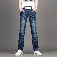 Fashion Men's Jeans Slim Fit Men Pants Personality Pockets Fashion Jeans Men Straight Plus Size 27~38 Hombre Pantalones Trouser